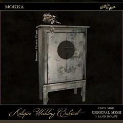 LD Antique Wedding Cabinet - Mokka