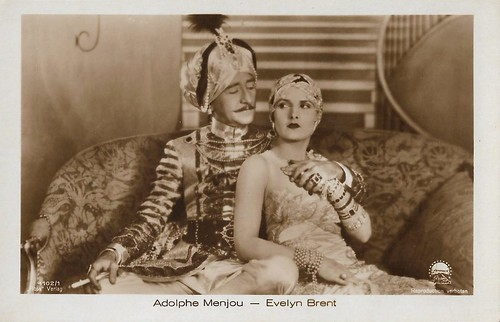 Adolphe Menjou and Evelyn Brent in His Tiger Wife (1928)