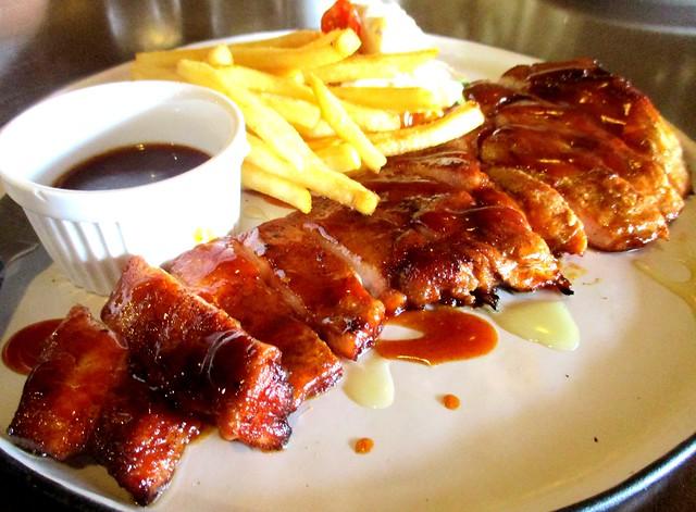 Bistecca & Bistro grilled BBQ pork chop