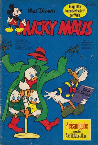 micky maus 51968  micky maus  heftreihe copyright