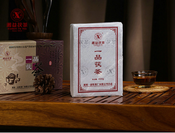 """2014 XiangYi """"Yi Pin Fu Cha"""" (First Grade Fucha) Brick 400g Hunan"""