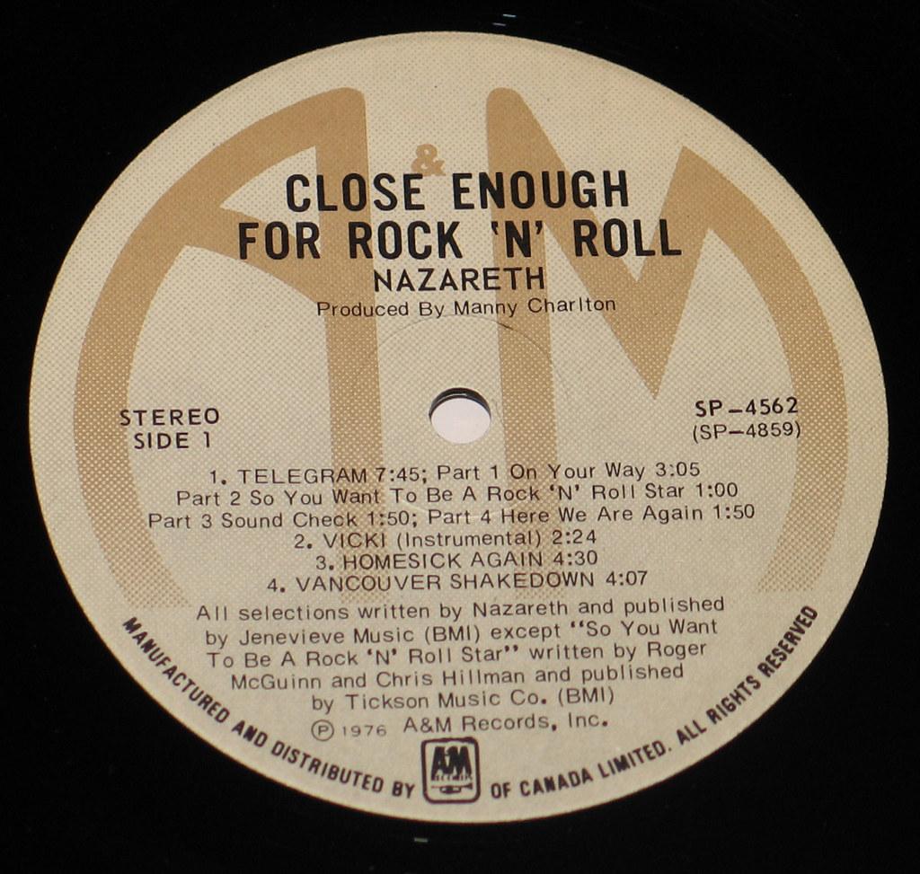Nazareth Close Enough For Rock N Roll Canada Lp Flickr