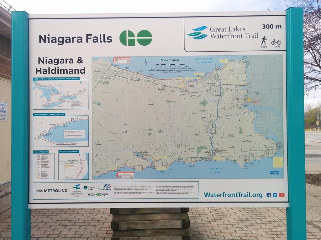 Niagara Falls Map Of The Niagara Haldimand Section Of The