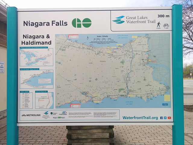 Niagara Falls map of the Niagara-Haldimand section of the Great Lakes Waterfront Trail #ontario #canada #niagarafalls #niagara #greatlakes #waterfronttrail #greatlakeswaterfronttrail #maps #erieave #latergram