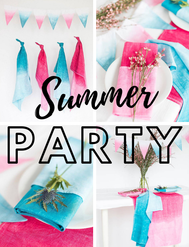 Tie Dye DIY SUMMER PARTY