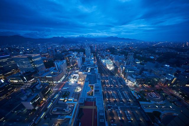 Sapporo at dusk