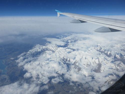 Heimflug - Über den Alpen