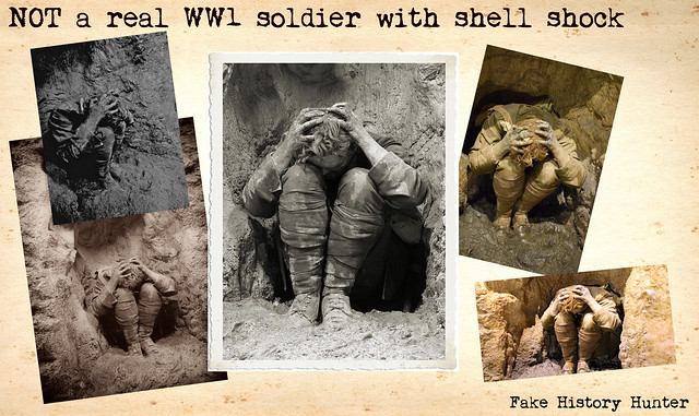 NOT a real WW1 soldier with shell shock