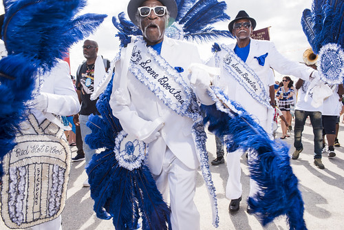 Scene Boosters at Jazz Fest day 6 on May 3, 2019. Photo by Ryan Hodgson-Rigsbee RHRphoto.com