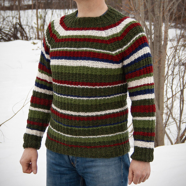 Reclaimed yarn used for a jumper