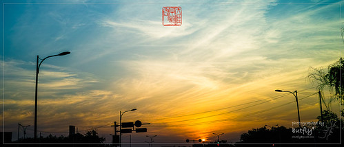 sigmax3 spring sunset sky golden blue dark cloud