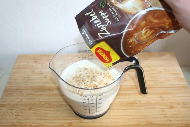 12 - Zwiebelsuppe addieren / Add onion soup
