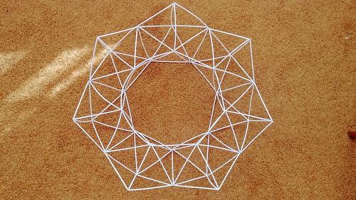 DIYed Himmeli Geometric Wreath