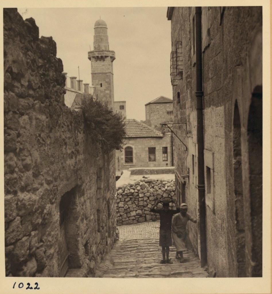 1022. 14 мая. Арабские беспорядки. Улица в Еврейском квартале Старого города