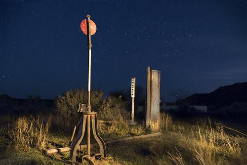 newmexico santafe lamy nightscapes landscape abandoned railroad