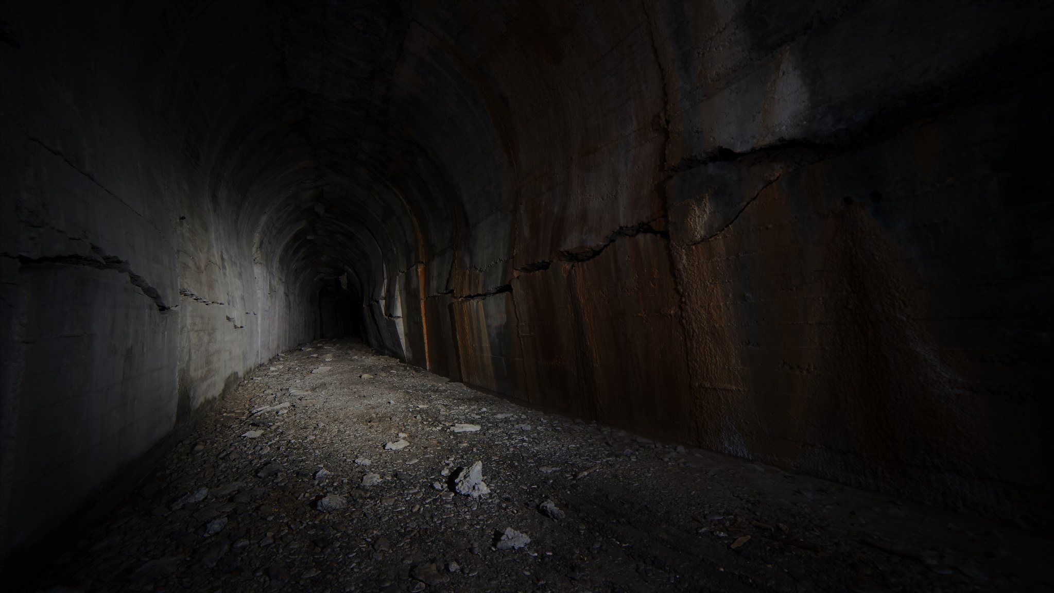 Abandoned collapsing tunnel
