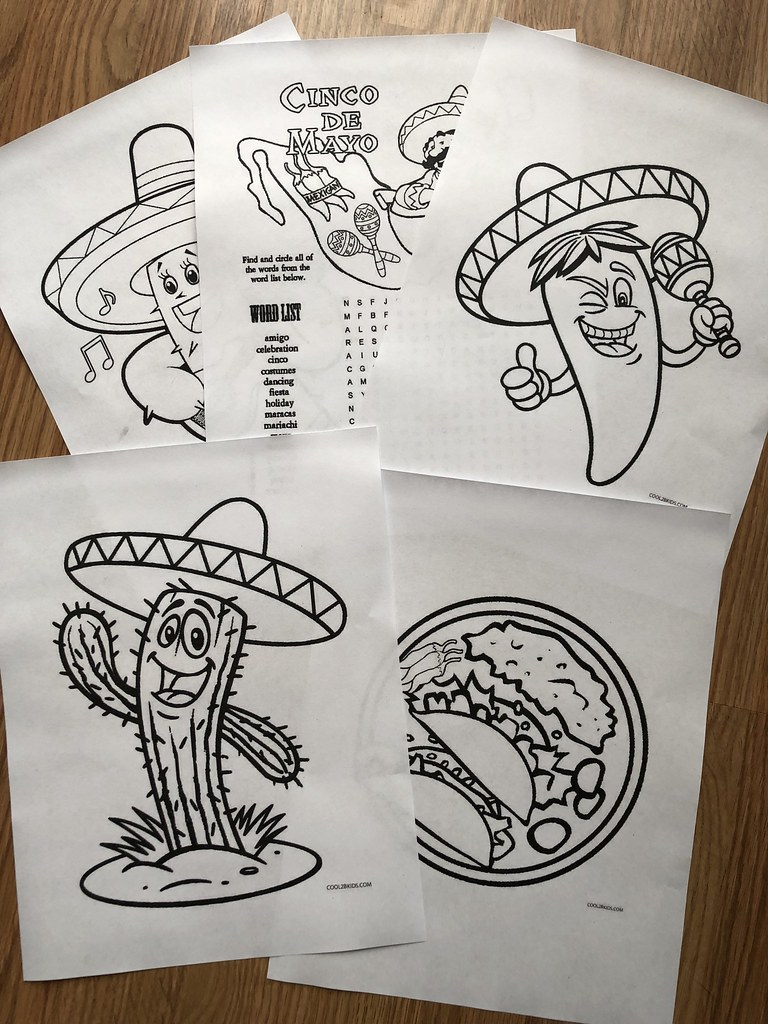 cinco de mayo coloring pages for kids