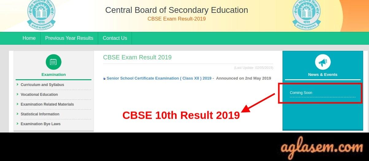 CBSE 10 Result 2019