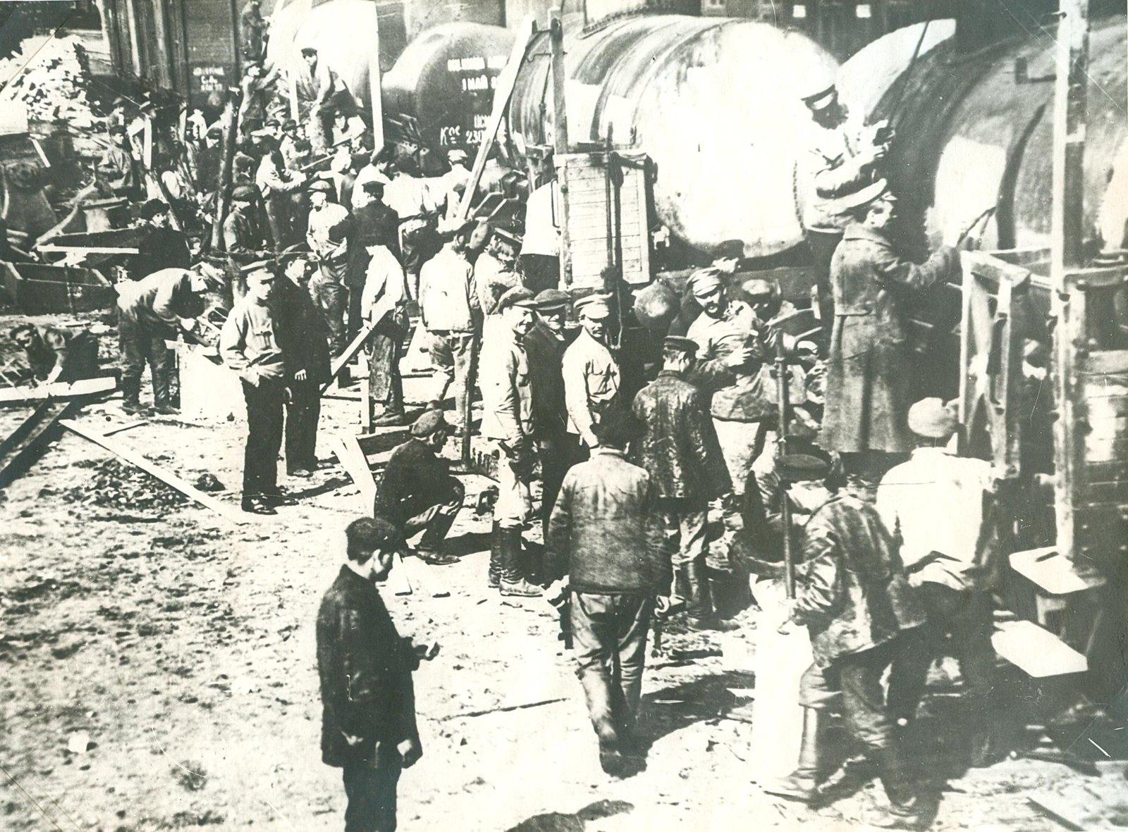 1920. Первомайский субботник на Александровской железной дороге