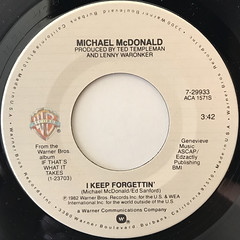 MICHAEL MCDONALD:I KEEP FORGETTIN'(LABEL SIDE-A)