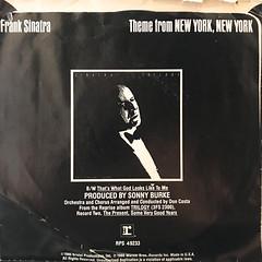 FRANK SINATRA:THEME FROM NEW YORK, NEW YORK(JACKET B)