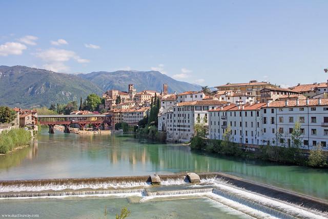 Ponte degli Alpini e Bassano del Grappa