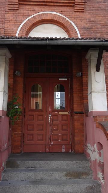1900/01 Berlin Portal mit Vordach Gemeindeschule Schmöckwitz von Kurt Berndt Adlergestell 784 in 12527 Schmöckwitz