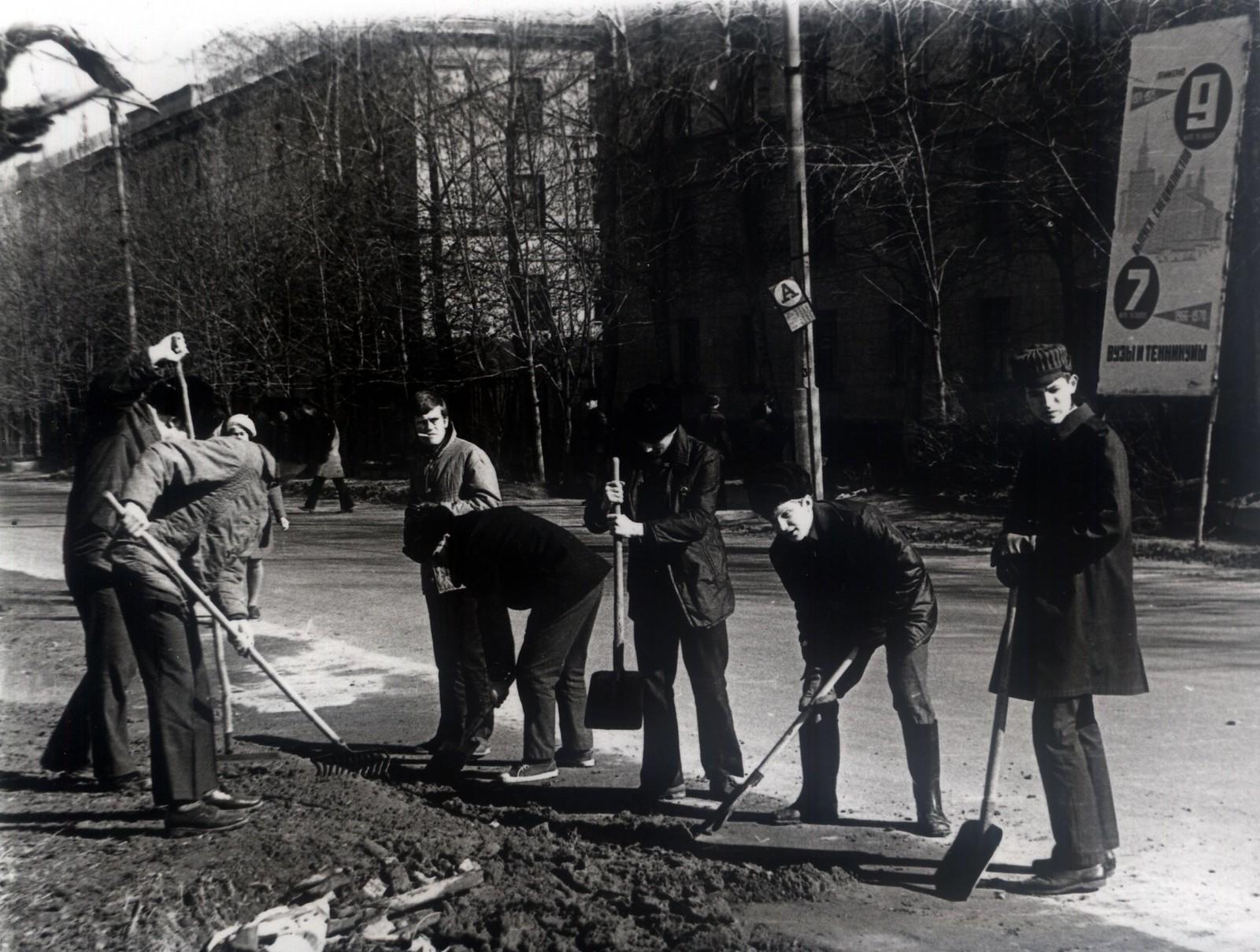 1974. Ленинский субботник в Долгопрудном