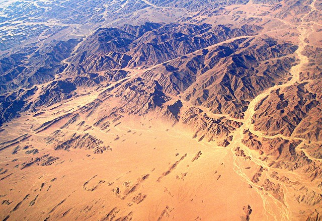 Airplane view of Egypt