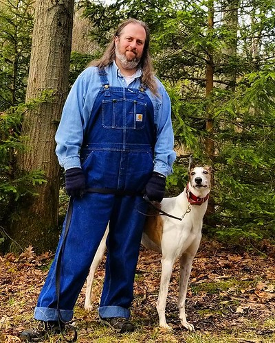 Adventurers! Yay, adventure! #Cane #dogsofinstagram #greyhound #greyhoundsofinstagram #ChestnutRidge #wny #orchardpark #spring #nature #hiking #trees #overalls #dungarees #biboveralls #carhartt #denim #bluedenim #denimoveralls #overallsarelife #doubledeni