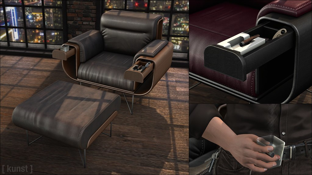 [ kunst ] – Smoker Armchair Set