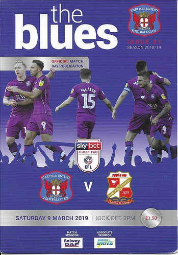 Carlisle United V Swindon Town 9-3-19 | by cumbriangroundhopper