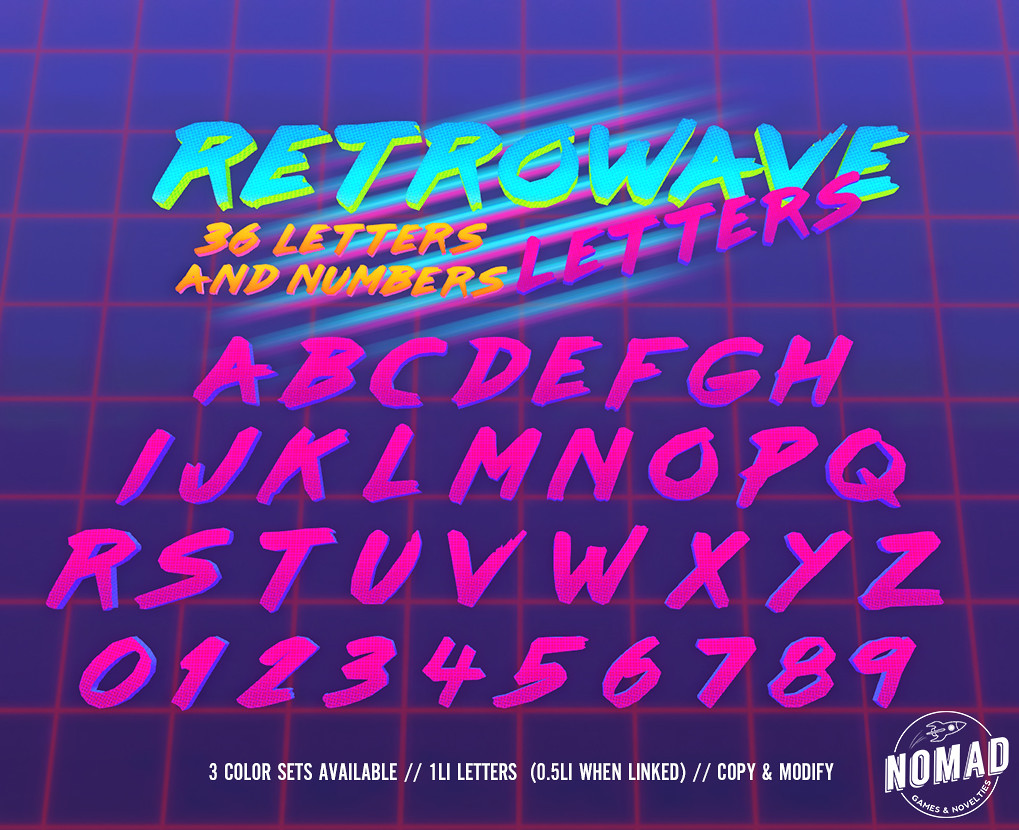 NOMAD // RETROWAVE LETTERS - TeleportHub.com Live!