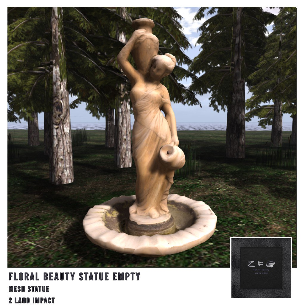 {zfg} home floral beauty statue empty