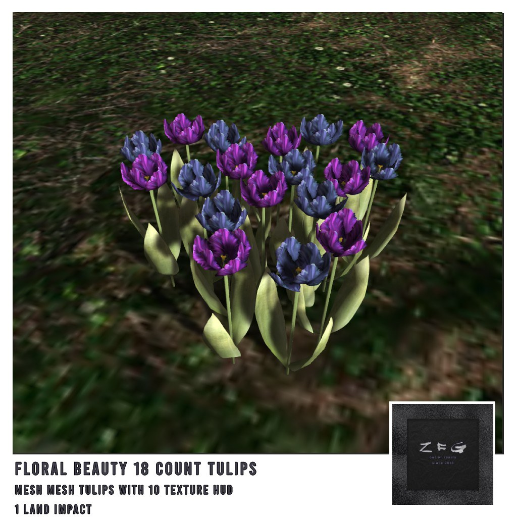 {zfg} home floral beauty 18 tulips