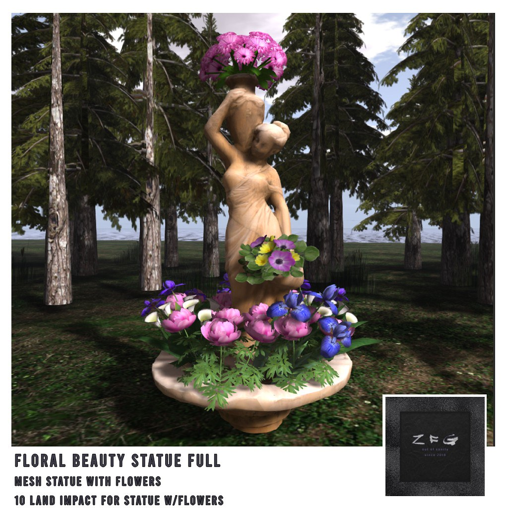 {zfg} home floral beauty statue full