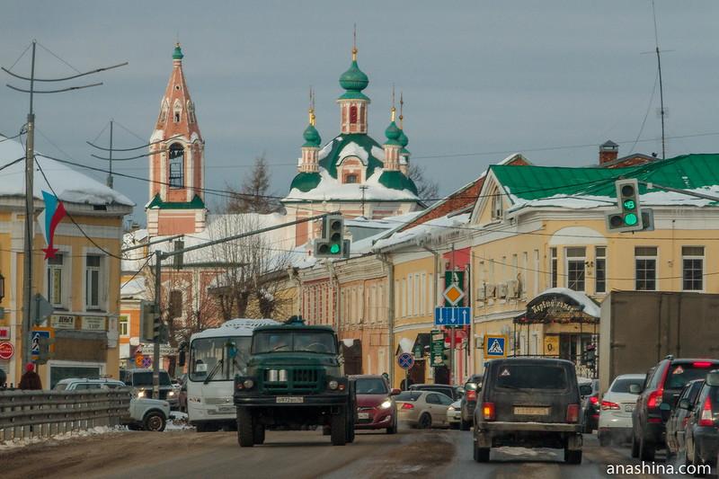 Ростовская улица и храм Симеона Столпника, Переславль-Залесский