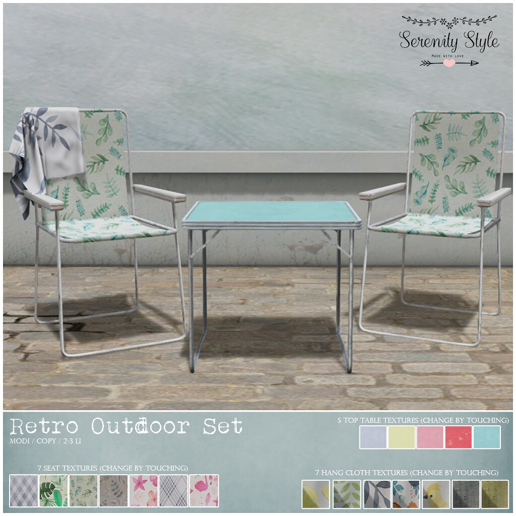 Serenity Style – Retro Outdoor Set