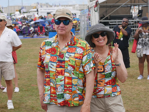 BayouWear fashion  on Day 8 of Jazz Fest - 5.5.19. Photo by Louis Crispino.