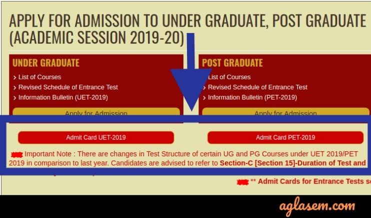 BHU UET & PET 2019 Admit Card Available; Download at bhuonline.in