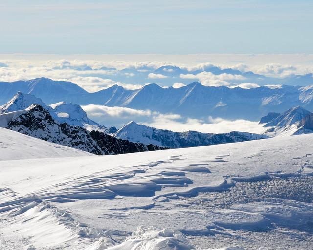Vistas de los Alpes desde el Jungfrau
