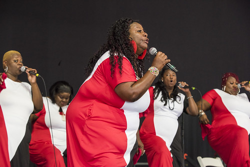The Anointed Jackson Sisters at the Gospel Tent during Jazz Fest 2019 day 8 on May 5, 2019. Photo by Ryan Hodgson-Rigsbee RHRphoto.com