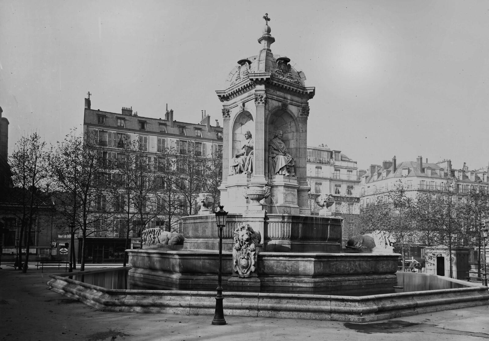 1870. Париж (VI округ). Фонтан Сен-Сюльпис