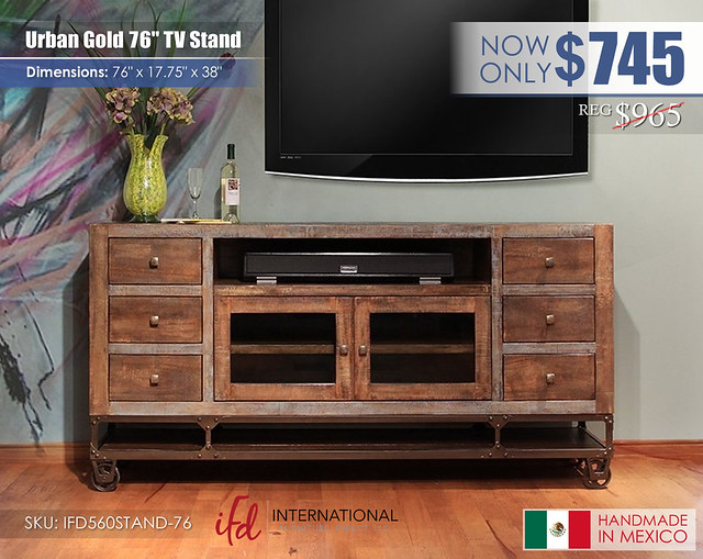 Urban Gold 76 in TV stand_IFD560STAND-76