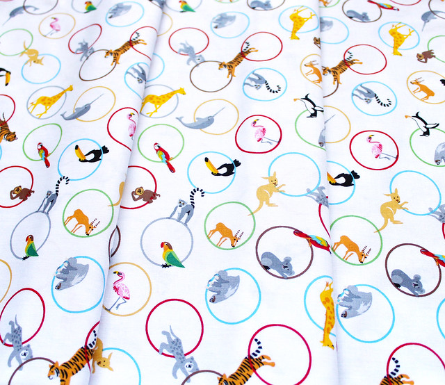 Studio E Fabrics Little Explorers 4228-46 Animal Rings