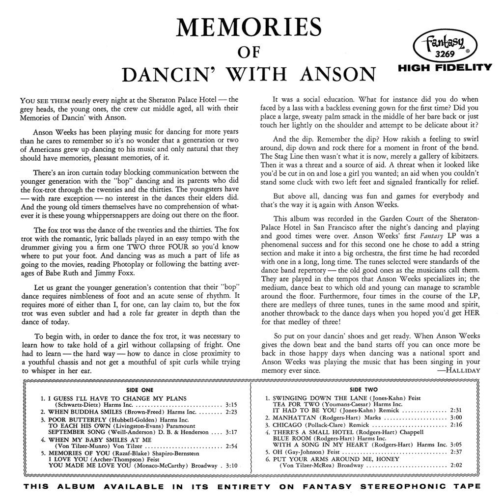 Anson Weeks - Memories of Dancin' with Anson