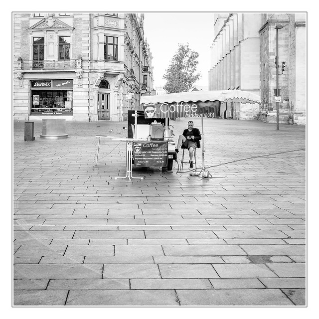 Lonesome coffee dealer