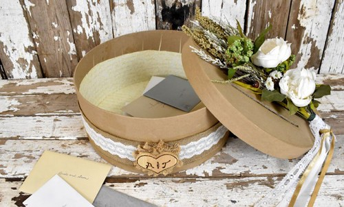 hat box wedding card holder