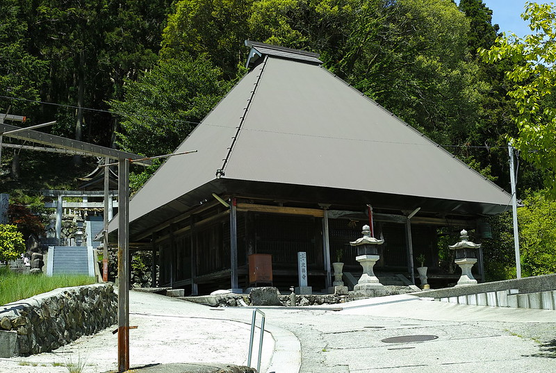 施福寺に向かって定福寺