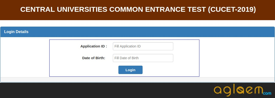 CUCET 2019 Admit Card Login